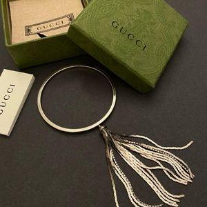 Authentic GUCCI Bangle Bracelet Silver 925/18㎝/ Ne